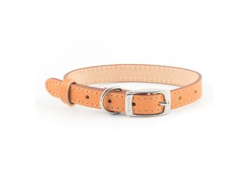 Diamond Leather Collar Tan 26-36cm S