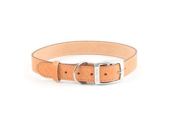 Diamond Leather Collar Tan 46-56cm L