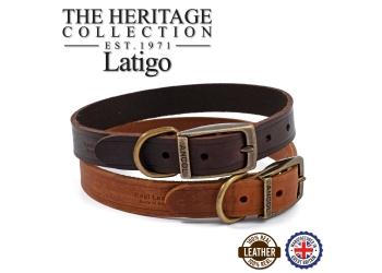 Latigo Leather Collar Chestnut 28-36cm Size 3