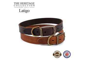 Latigo Leather Collar Havana 39-48cm Size 5