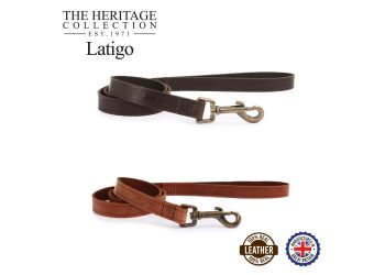 Latigo Leather Lead Havana 100cm x19mm