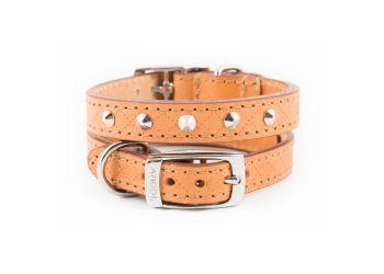 Diamond Stud Collar Tan 22-26cm XS