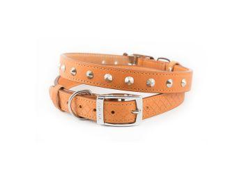 Diamond Stud Collar Tan 46-56cm L