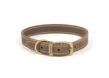 Timberwolf Leather Collar Sable 22-26cm XS