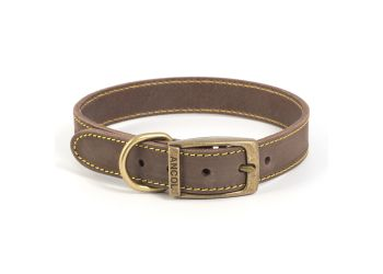 Timberwolf Leather Collar Sable 36-46cm M