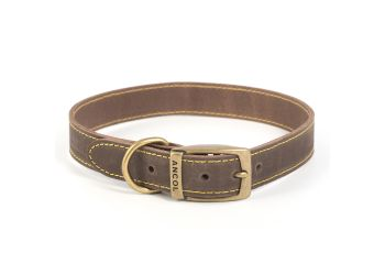 Timberwolf Leather Collar Sable 46-56cm L