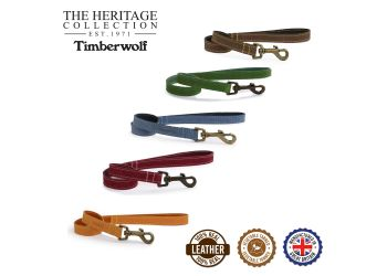 Timberwolf Leather Lead Raspberry 60cmx19mm