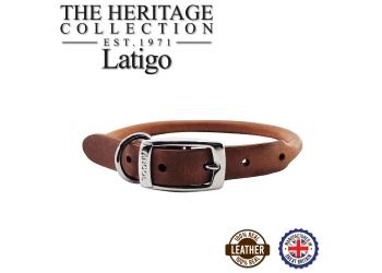 Round Leather Collar Chestnut 35-43cm Size 4