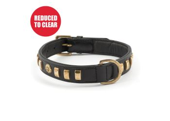 Terrier Rose Collar Black 45-54cm Size 6