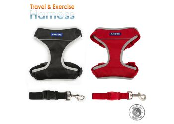 Travel Dog Harness Black L 55-87cm