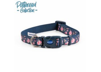 Fashion Collar Navy Rose Adjustable 20-30cm