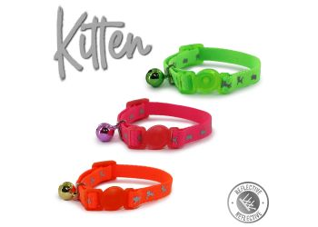 Hi-Vis Safety Kitten Collar Pink