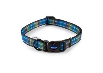 Tartan Collar Blue 45-70cm Size 5-9