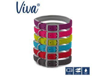 Padded Viva Collar Lime 55-63cm Size 8