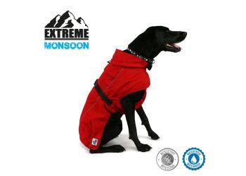 Extreme Monsoon Dog Coat Red 25cm XS