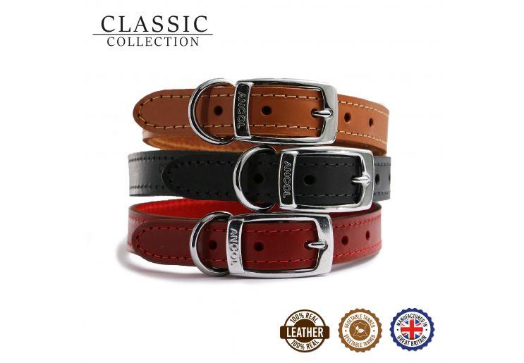 Heritage Leather Collar Tan 20-26cm Size 1