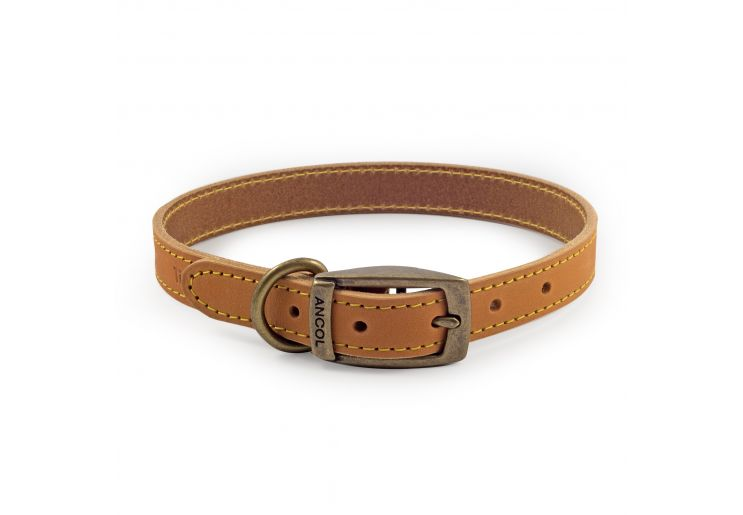 Timberwolf Leather Collar Mustard 36-46cm M