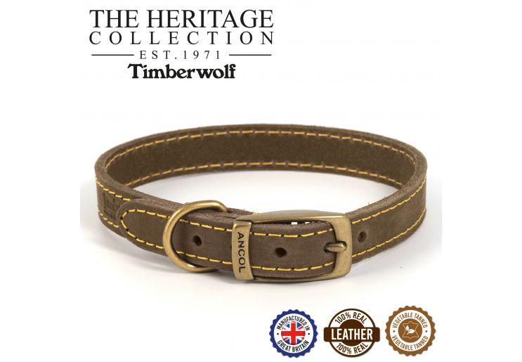 Timberwolf Leather Collar Sable 20-26cm Size 1
