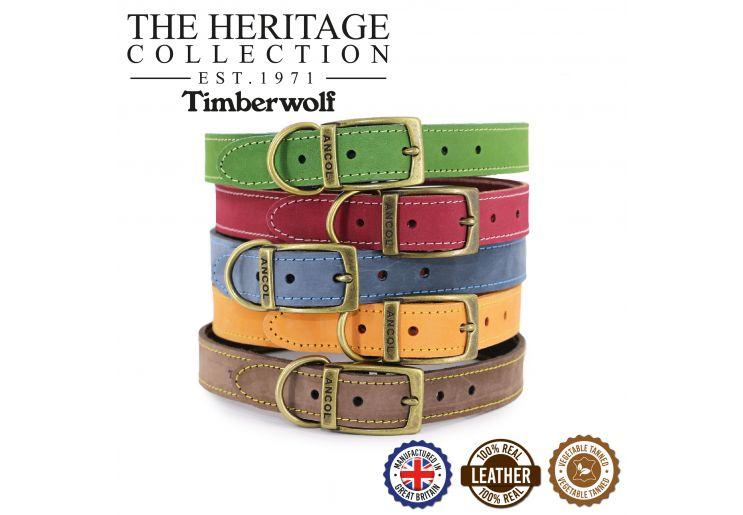 Timberwolf Leather Collar Mustard 28-36cm Size 3