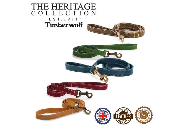 Timberwolf Leather Lead Raspberry 1mx19mm