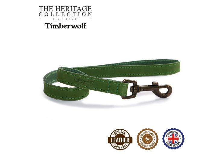 Timberwolf Leather Lead Green 60cmx19mm
