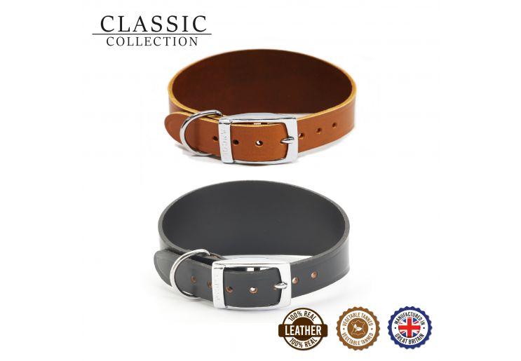 Greyhound Leather Collar Tan 34-43cm