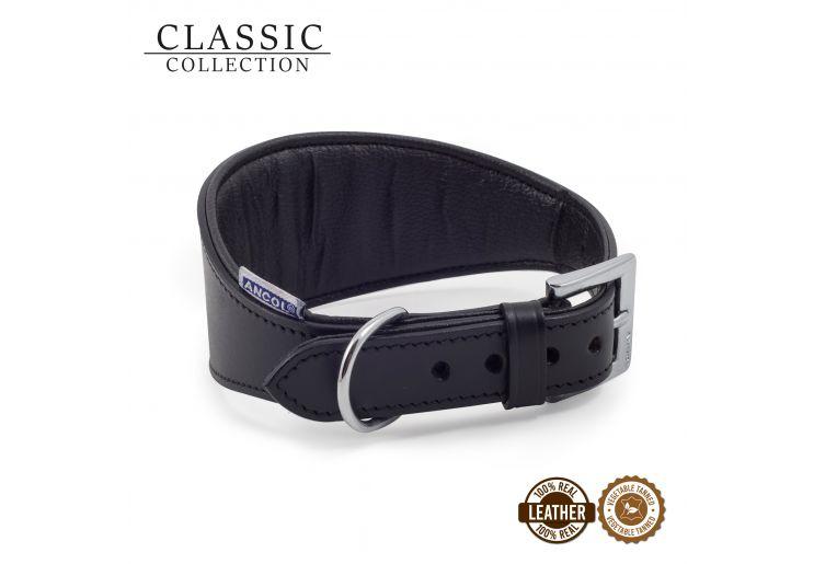 Whippet Padded Collar Black 30-34cm
