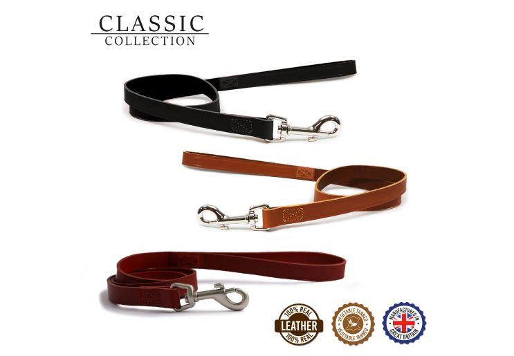 Classic Leather Lead Black 1mx19mm