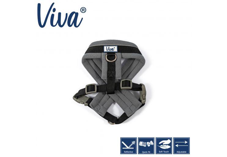Viva Padded Harness Black S 36-42cm
