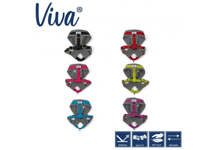 Viva Padded Harness Black M 41-53cm