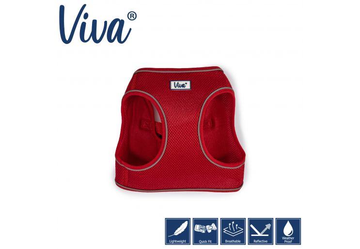 Step-in Harness S Red