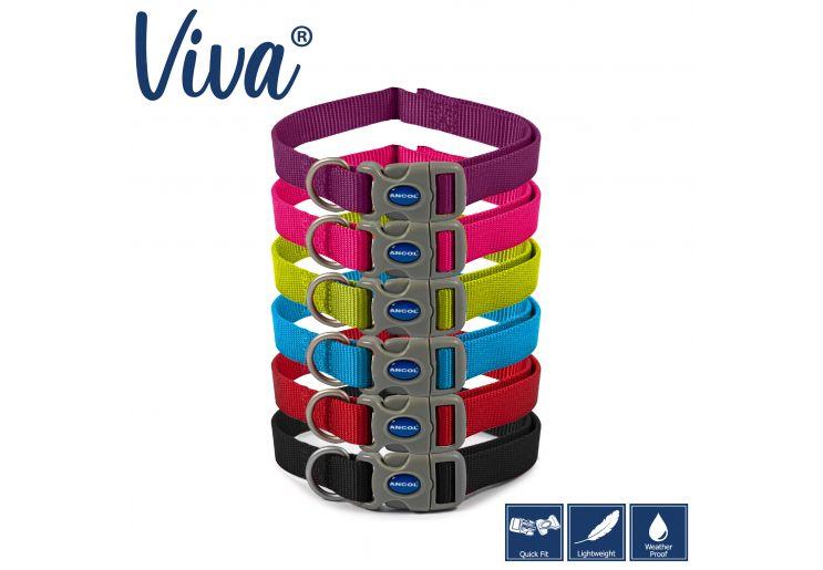 Nylon Adjustable Collar Red 20-30cm Size 1-2