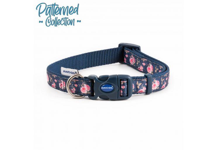 Fashion Collar Navy Rose Adjustable 20-30cm