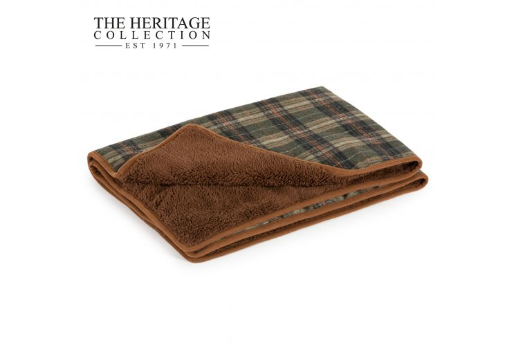 Heritage Green Check Blanket 110 x 72cm
