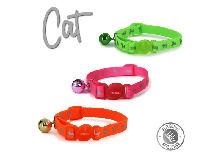 High Vis Cat Collar Green