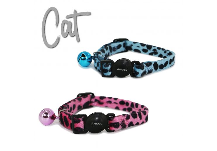 Leopard Print Safety Cat Collar Pink