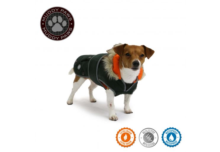 Green Parka Dog Coat S