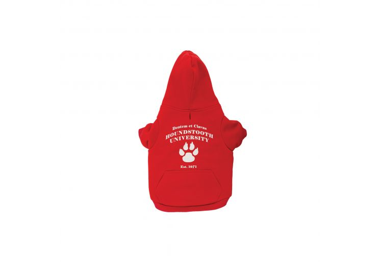 Red Uni Dog Hoodie S