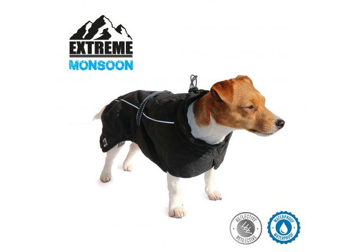 Extreme Monsoon Dog Coat Black 25cm XS