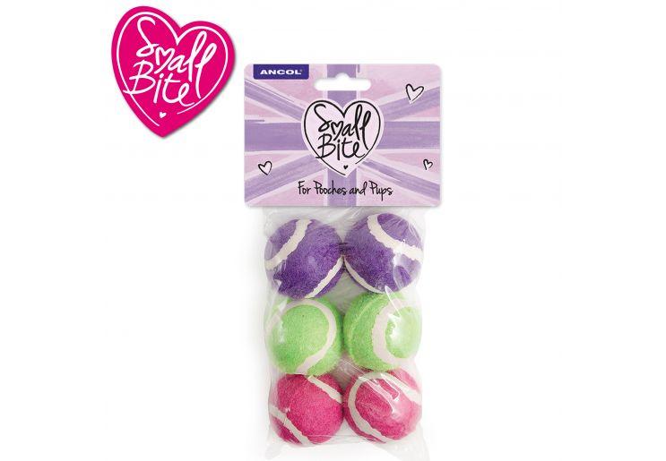 SB Mini Tennis Balls 6pc pack