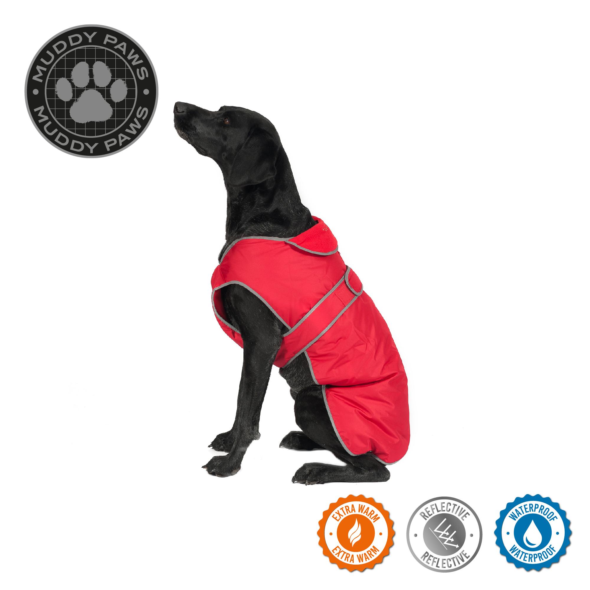 Obleček pro psy stormguard - červený